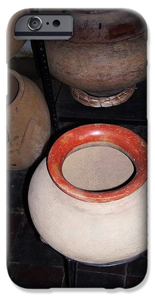 Object Ceramics iPhone Cases - Sacred Vessels iPhone Case by Frank Chipasula