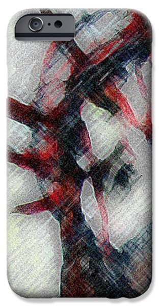 Jesus Drawings iPhone Cases - Sacrifice  iPhone Case by Jazzboy