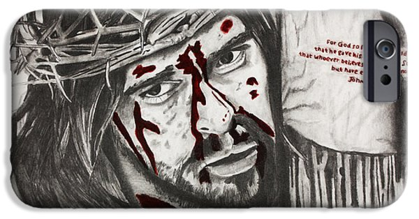 Best Sellers -  - Son Of God Drawings iPhone Cases - Sacrifice iPhone Case by Nick Vogt