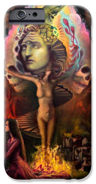 Greek Sculpture Paintings iPhone Cases - Sacrifice to Alexander iPhone Case by Louis  Braquet