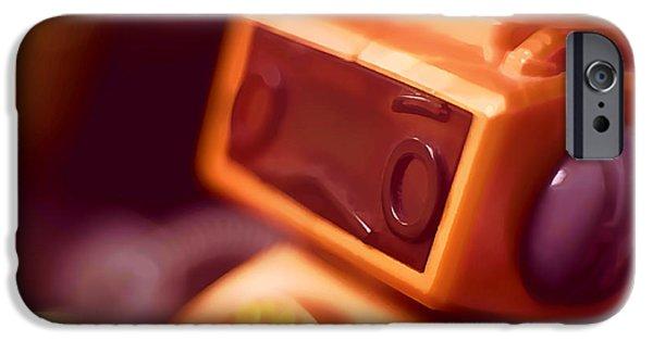 Robots iPhone Cases - Sad Little Robot iPhone Case by Scott Norris