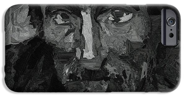 Homeless iPhone Cases - Sad Man iPhone Case by Ayse Deniz