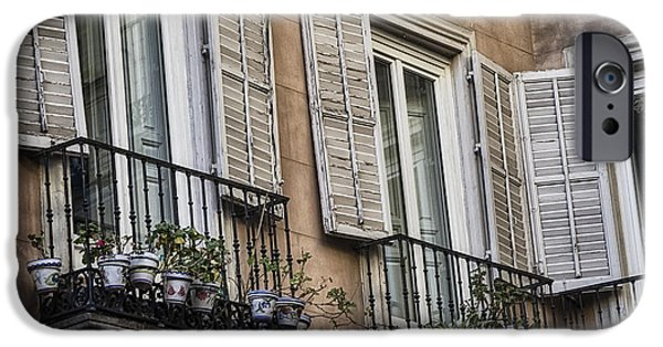 Balcony iPhone Cases - Sad Windows iPhone Case by Joan Carroll