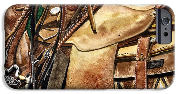 Nadi Spencer iPhone Cases - Saddle Texture iPhone Case by Nadi Spencer