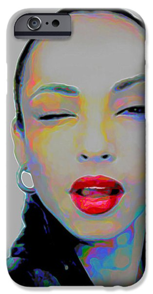 Celebrities Digital iPhone Cases - Sade 3 iPhone Case by  Fli Art