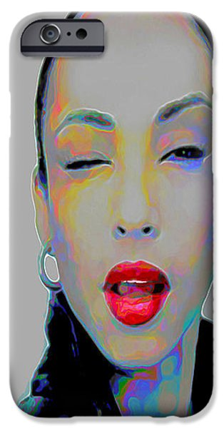 Gray Hair Digital Art iPhone Cases - Sade 3 phone case iPhone Case by  Fli Art
