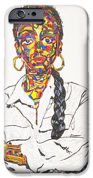 Recently Sold -  - Strange iPhone Cases - Abstract Sade  iPhone Case by Stormm Bradshaw