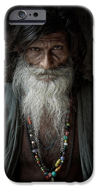 Accomplice iPhone Cases - Sadhu III iPhone Case by Gilles Lougassi