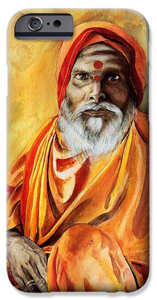 Sadhu iPhone Case by Janet Pancho Gupta