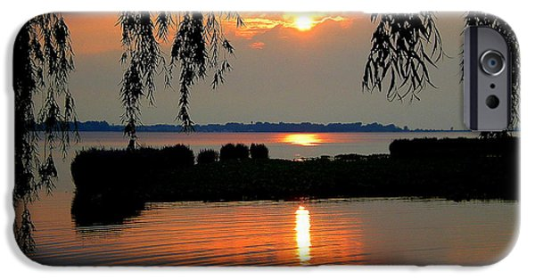 Willow Lake iPhone Cases - Sadness at Days End iPhone Case by Frozen in Time Fine Art Photography