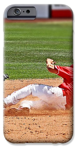 Safe at second iPhone Case by Bob Hislop