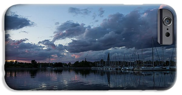 Turbulent Skies iPhone Cases - Safe Harbor After the Storm iPhone Case by Georgia Mizuleva