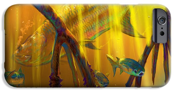 Redfish iPhone Cases - Safe Place  iPhone Case by Yusniel Santos