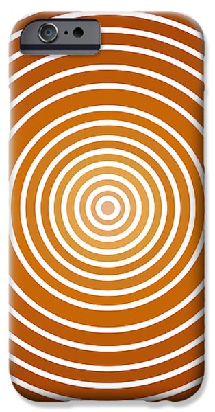 Saffron Colored Abstract Circles iPhone Case by Frank Tschakert