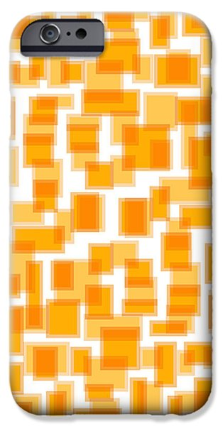 Saffron Yellow Abstract iPhone Case by Frank Tschakert