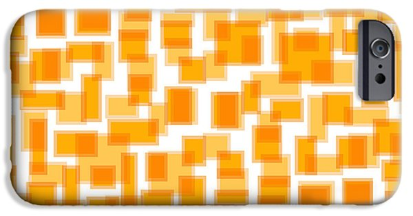 """geometric Art"" iPhone Cases - Saffron Yellow Abstract iPhone Case by Frank Tschakert"