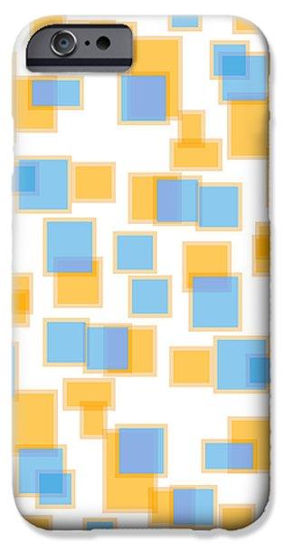 Saffron Yellow And Azure Blue iPhone Case by Frank Tschakert
