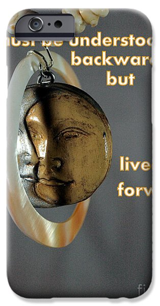 Jewelry Greeting Cards iPhone Cases - Sage Advise iPhone Case by Irma BACKELANT GALLERIES