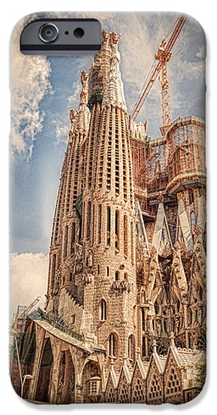 Culture iPhone Cases - Sagrada Familia iPhone Case by Erik Brede