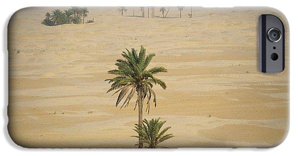 Northern Africa iPhone Cases - Sahara Desert, Tunisia iPhone Case by Kees Van Den Berg