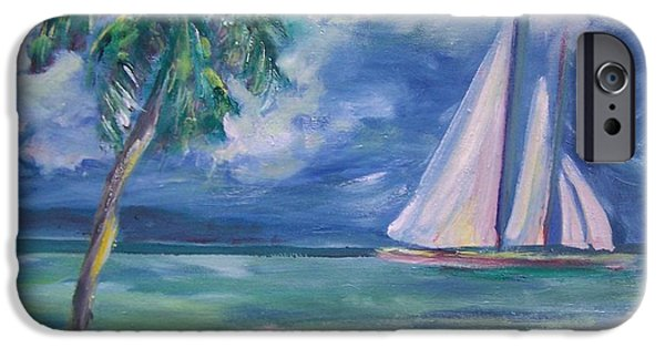 Sailboat Ocean iPhone Cases - Sail Away iPhone Case by Patricia Taylor