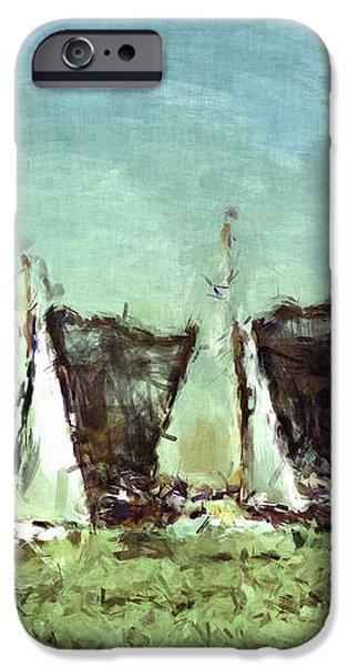 Sail Away iPhone Case by Susan Leggett