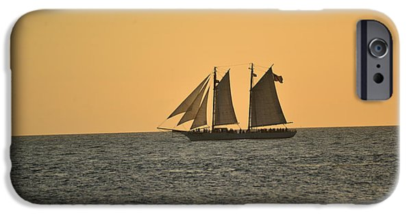 Sailboat Pyrography iPhone Cases - Sail Away iPhone Case by Vickie Hixson