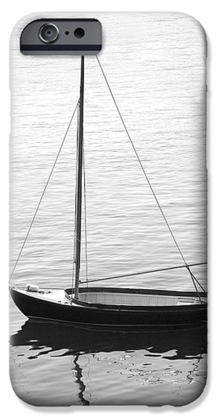 Maine iPhone Cases - Sail Boat in Maine iPhone Case by Mike McGlothlen