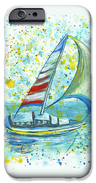 Recently Sold -  - Sailboats iPhone Cases - Sail On Maui iPhone Case by Darice Machel McGuire