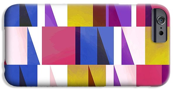 Patterns Paintings iPhone Cases - Sail One iPhone Case by Laurence Lavallee