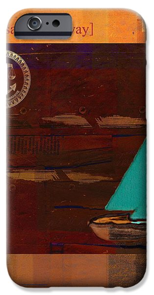 Blue Sailboats iPhone Cases - Sail Sail Sail Away - j173131140v3c4b iPhone Case by Variance Collections