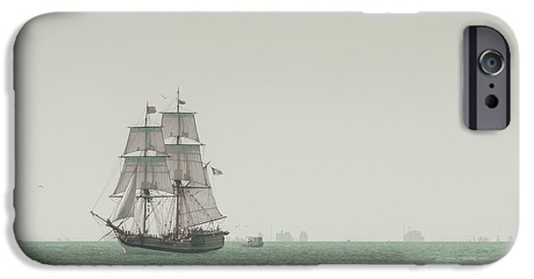 Sail Boat iPhone Cases - Sail Ship 1 iPhone Case by Lucid Mood