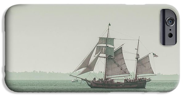 Sail Boat iPhone Cases - Sail Ship 2 iPhone Case by Lucid Mood