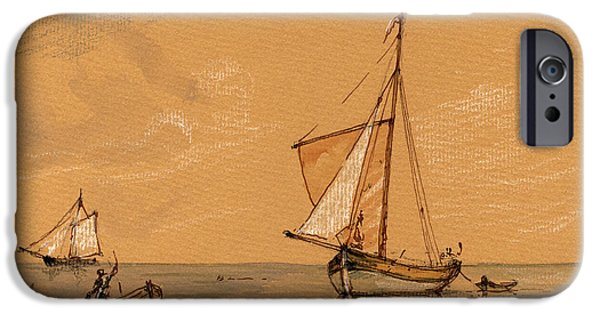 Pirate Ship iPhone Cases - Sail ship iPhone Case by Juan  Bosco