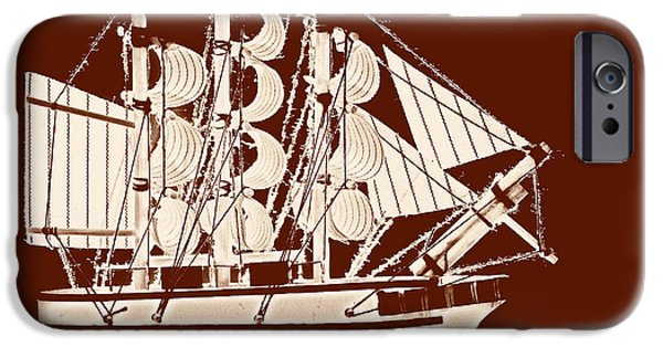 Windjammer iPhone Cases - Sail ship iPhone Case by Sinisa Botas