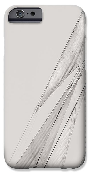 Full Sail iPhone Cases - Sailboat - All The Sails In Position - Sepia iPhone Case by Dapixara Art