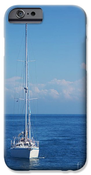 North Sea iPhone Cases - Sailboat iPhone Case by Angela Doelling AD DESIGN Photo and PhotoArt
