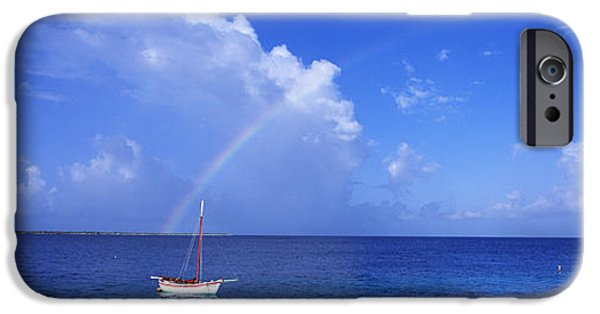 Sailboat Ocean iPhone Cases - Sailboat Bonaire Netherlands Antilles iPhone Case by Panoramic Images
