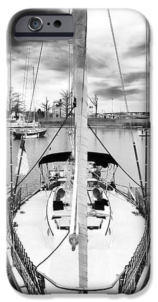 Sailboat Docked iPhone Case by John Rizzuto