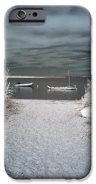 Sailboat Entry Infrared Blue iPhone Case by John Rizzuto