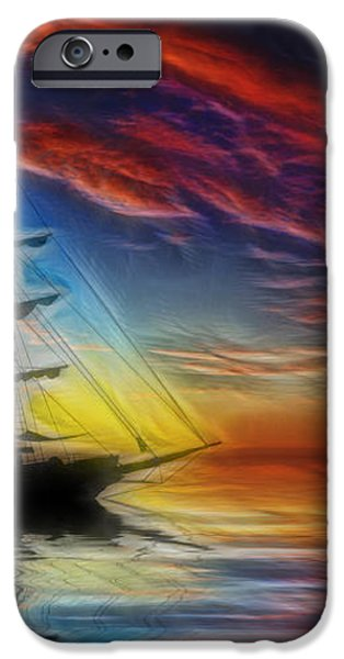 Sailboat Fractal iPhone Case by Shane Bechler