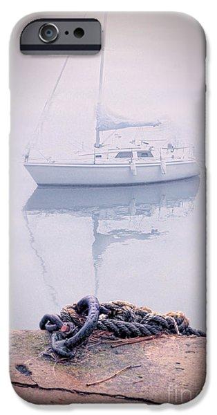 Sailboat in Fog iPhone Case by Jill Battaglia