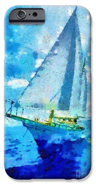 Sailboats iPhone Cases - Sailboat iPhone Case by Magomed Magomedagaev