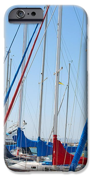 Sailboat Masts iPhone Case by Artist and Photographer Laura Wrede