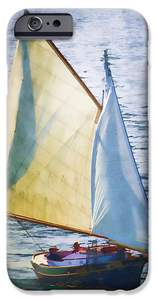 Sailboat Off Marthas Vineyard Massachusetts iPhone Case by Carol Leigh