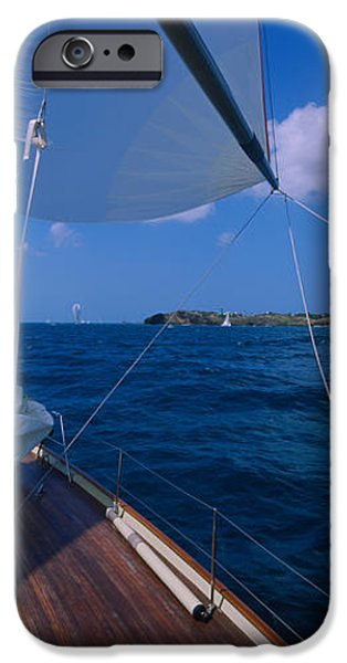 Weekend Activities iPhone Cases - Sailboat Racing In The Sea, Grenada iPhone Case by Panoramic Images