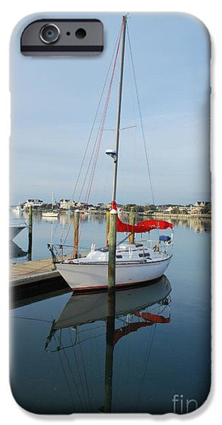 Interior Scene iPhone Cases - Sailboat Reflection iPhone Case by Bob Sample