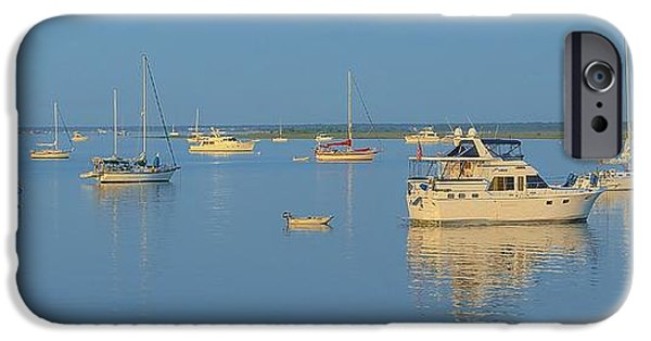 Interior Scene iPhone Cases - Sailboats At Dawn iPhone Case by Bob Sample