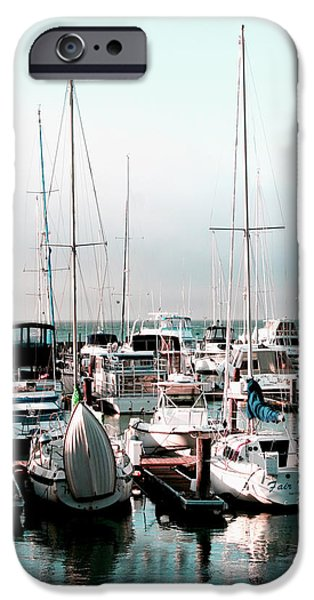 Sailing iPhone Cases - Sailboats at Rest iPhone Case by Ken Reardon