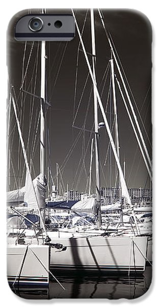 Sailboats Docked iPhone Case by John Rizzuto